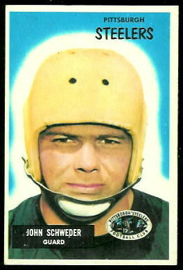 John Schweder 1955 Bowman football card