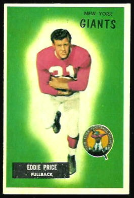 Eddie Price 1955 Bowman football card