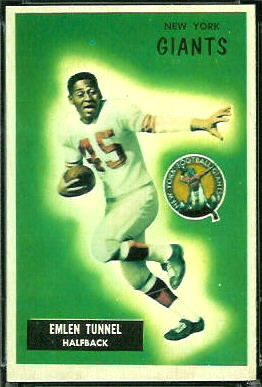 Emlen Tunnell 1955 Bowman football card