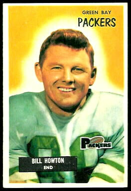 Bill Howton 1955 Bowman football card