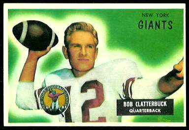 Bob Clatterbuck 1955 Bowman football card