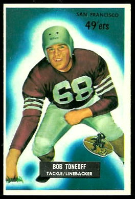 Bob Toneff 1955 Bowman football card