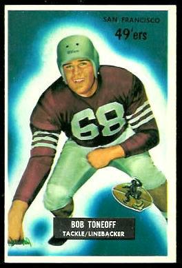 Bob Toneff 1955 Bowman football card