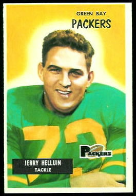 Jerry Helluin 1955 Bowman football card