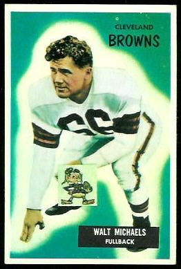 Walt Michaels 1955 Bowman football card