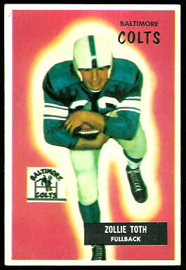 Zollie Toth 1955 Bowman football card