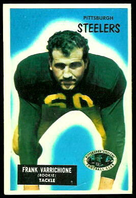 Frank Varrichione 1955 Bowman football card