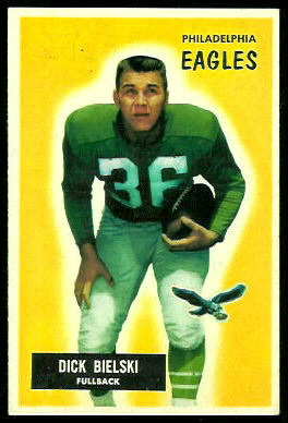 Dick Bielski 1955 Bowman football card