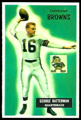 George Ratterman 1955 Bowman football card