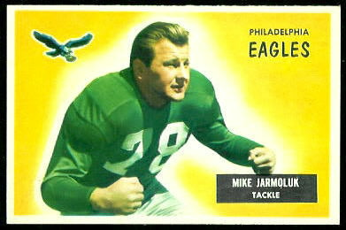 Mike Jarmoluk 1955 Bowman football card