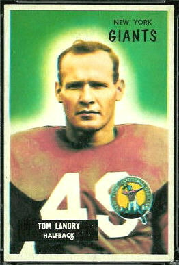 Tom Landry 1955 Bowman football card