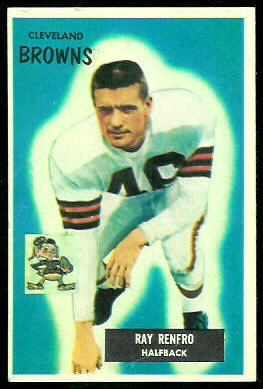 Ray Renfro 1955 Bowman football card