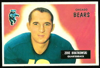 Zeke Bratkowski 1955 Bowman football card
