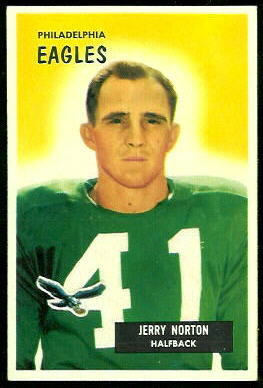 Jerry Norton 1955 Bowman football card