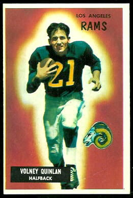 Volney Quinlan 1955 Bowman football card