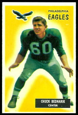 Chuck Bednarik 1955 Bowman football card