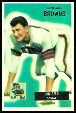 Don Colo 1955 Bowman football card