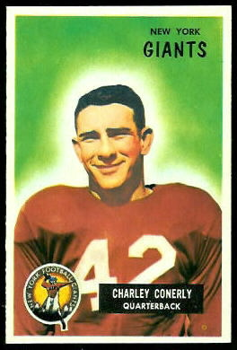 Charley Conerly 1955 Bowman football card