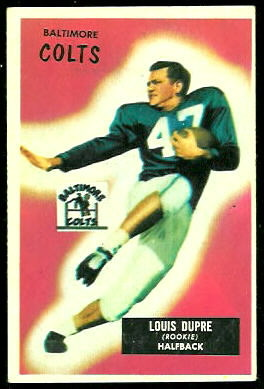 L.G. Dupre 1955 Bowman football card