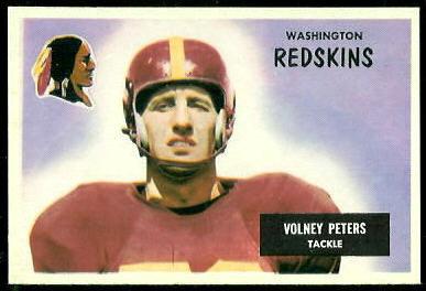 Volney Peters 1955 Bowman football card