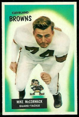 Mike McCormack 1955 Bowman football card