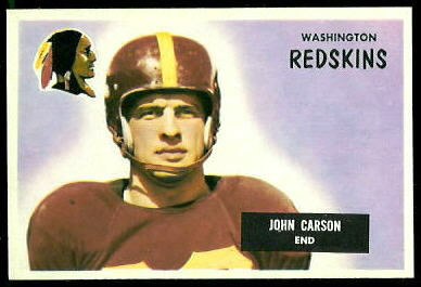 John Carson 1955 Bowman football card