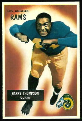 Harry Thompson 1955 Bowman football card