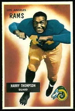 Harry Thompson 1955 Bowman football card