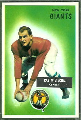 Ray Wietecha 1955 Bowman football card