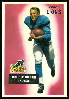 Jack Christiansen 1955 Bowman football card