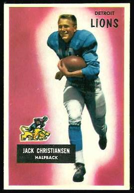 Jack Christiansen 1955 Bowman football card