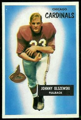 John Olszewski 1955 Bowman football card