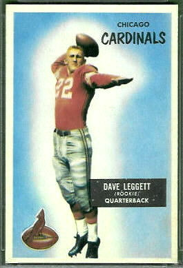 Dave Leggett 1955 Bowman football card