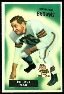 Lou Groza 1955 Bowman football card
