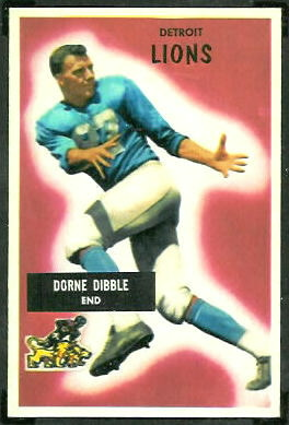 Dorne Dibble 1955 Bowman football card