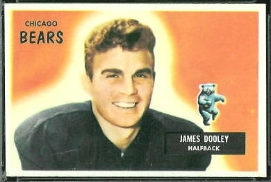 Jim Dooley 1955 Bowman football card