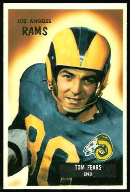 Tom Fears 1955 Bowman football card