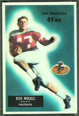 Dick Moegle 1955 Bowman football card
