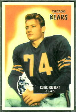 Kline Gilbert 1955 Bowman football card