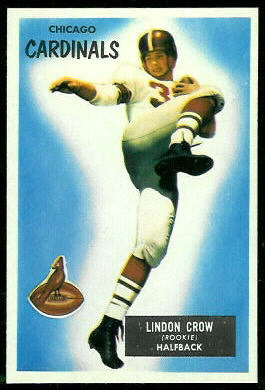 Lindon Crow 1955 Bowman football card