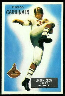Lindon Crow 1955 Bowman football card