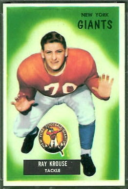 Ray Krouse 1955 Bowman football card