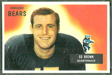 Ed Brown 1955 Bowman football card