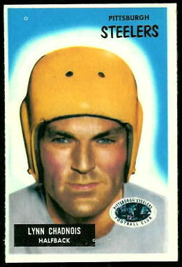 Lynn Chandnois 1955 Bowman football card