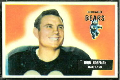 John Hoffman 1955 Bowman football card