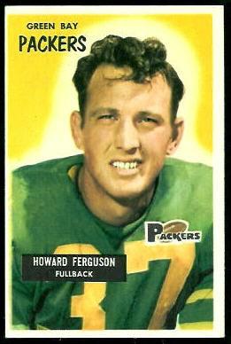 Howard Ferguson 1955 Bowman football card