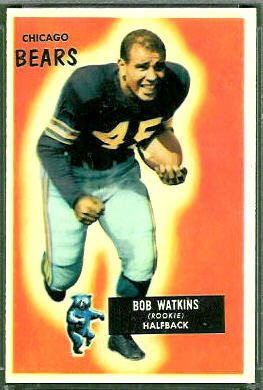 Bobby Watkins 1955 Bowman football card