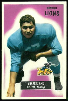 Charlie Ane 1955 Bowman football card