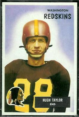 Hugh Taylor 1955 Bowman football card