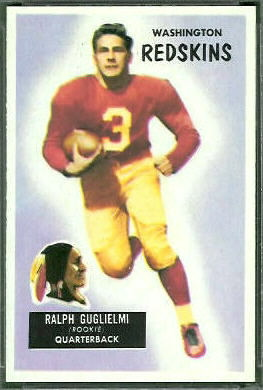 Ralph Guglielmi 1955 Bowman football card
